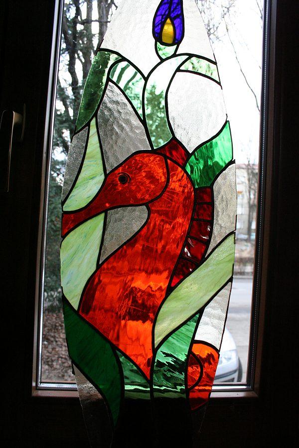 detaliu vitraliu fereastra