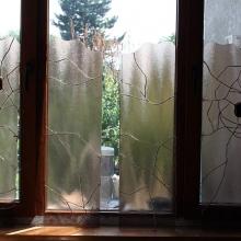 detaliu vitralii fereastra