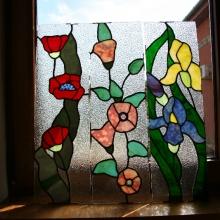 decoratiune vitraliu interior tehnica plumbului