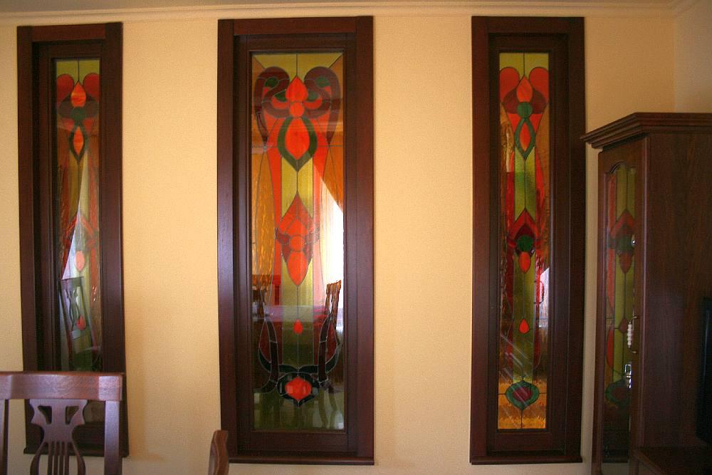 vitralii la mobila detalii de interior